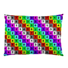 Mapping Grid Number Color Pillow Case (Two Sides)