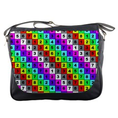 Mapping Grid Number Color Messenger Bags