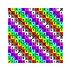 Mapping Grid Number Color Acrylic Tangram Puzzle (6  x 6 )