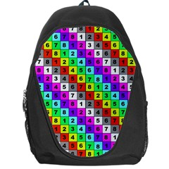 Mapping Grid Number Color Backpack Bag