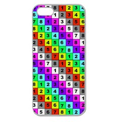 Mapping Grid Number Color Apple Seamless iPhone 5 Case (Clear)