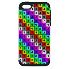 Mapping Grid Number Color Apple iPhone 5 Hardshell Case (PC+Silicone)