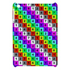 Mapping Grid Number Color Apple iPad Mini Hardshell Case