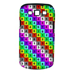 Mapping Grid Number Color Samsung Galaxy S III Classic Hardshell Case (PC+Silicone)