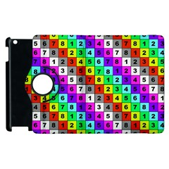 Mapping Grid Number Color Apple iPad 3/4 Flip 360 Case