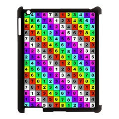Mapping Grid Number Color Apple iPad 3/4 Case (Black)