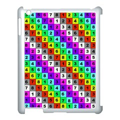 Mapping Grid Number Color Apple iPad 3/4 Case (White)