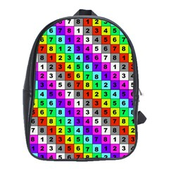Mapping Grid Number Color School Bags (XL)