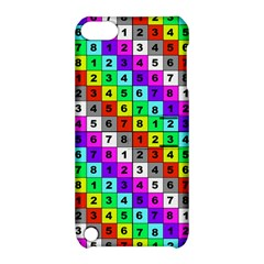 Mapping Grid Number Color Apple iPod Touch 5 Hardshell Case with Stand