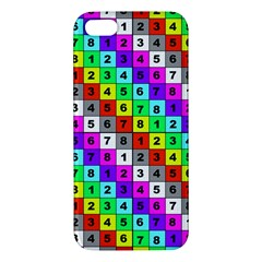 Mapping Grid Number Color Apple iPhone 5 Premium Hardshell Case