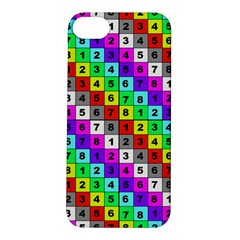 Mapping Grid Number Color Apple iPhone 5S/ SE Hardshell Case