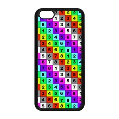 Mapping Grid Number Color Apple iPhone 5C Seamless Case (Black)