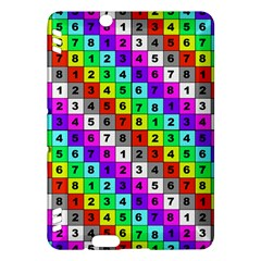 Mapping Grid Number Color Kindle Fire HDX Hardshell Case