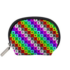 Mapping Grid Number Color Accessory Pouches (Small)