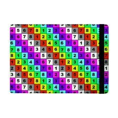 Mapping Grid Number Color iPad Mini 2 Flip Cases