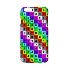 Mapping Grid Number Color Apple iPhone 6/6S Hardshell Case