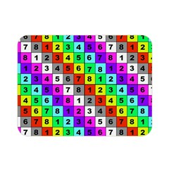 Mapping Grid Number Color Double Sided Flano Blanket (Mini)