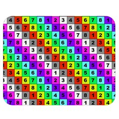 Mapping Grid Number Color Double Sided Flano Blanket (Medium)