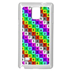 Mapping Grid Number Color Samsung Galaxy Note 4 Case (White)