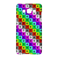 Mapping Grid Number Color Samsung Galaxy A5 Hardshell Case