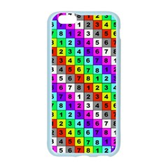 Mapping Grid Number Color Apple Seamless iPhone 6/6S Case (Color)