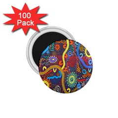 Mbantua Aboriginal Art Gallery Cultural Museum Australia 1.75  Magnets (100 pack)