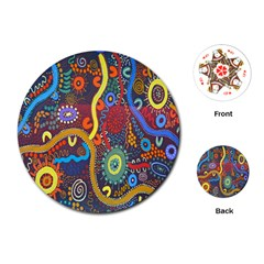 Mbantua Aboriginal Art Gallery Cultural Museum Australia Playing Cards (Round)