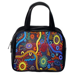 Mbantua Aboriginal Art Gallery Cultural Museum Australia Classic Handbags (One Side)