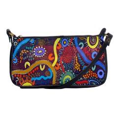 Mbantua Aboriginal Art Gallery Cultural Museum Australia Shoulder Clutch Bags
