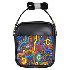 Mbantua Aboriginal Art Gallery Cultural Museum Australia Girls Sling Bags