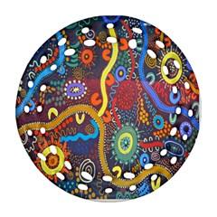 Mbantua Aboriginal Art Gallery Cultural Museum Australia Ornament (Round Filigree)