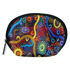 Mbantua Aboriginal Art Gallery Cultural Museum Australia Accessory Pouches (Medium)