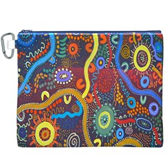 Mbantua Aboriginal Art Gallery Cultural Museum Australia Canvas Cosmetic Bag (XXXL)
