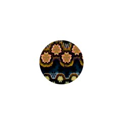 Ornate Floral Textile 1  Mini Magnets