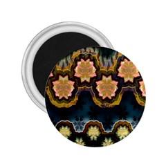 Ornate Floral Textile 2 25  Magnets