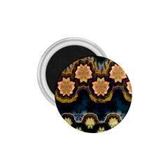 Ornate Floral Textile 1.75  Magnets
