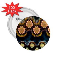 Ornate Floral Textile 2.25  Buttons (100 pack)
