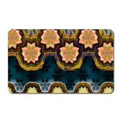 Ornate Floral Textile Magnet (Rectangular)