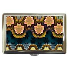Ornate Floral Textile Cigarette Money Cases