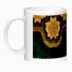 Ornate Floral Textile Night Luminous Mugs