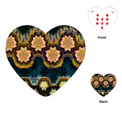 Ornate Floral Textile Playing Cards (Heart)