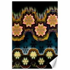 Ornate Floral Textile Canvas 20  x 30