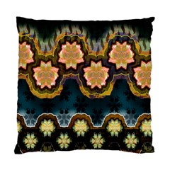 Ornate Floral Textile Standard Cushion Case (Two Sides)
