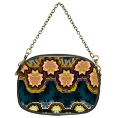 Ornate Floral Textile Chain Purses (Two Sides)