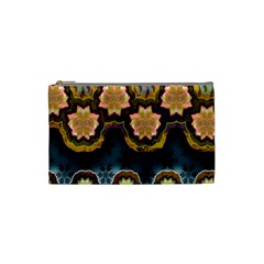 Ornate Floral Textile Cosmetic Bag (Small)