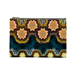 Ornate Floral Textile Cosmetic Bag (Large)
