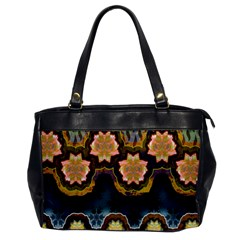 Ornate Floral Textile Office Handbags