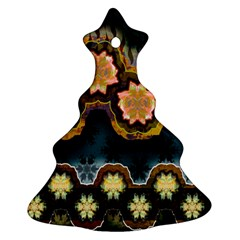 Ornate Floral Textile Christmas Tree Ornament (Two Sides)