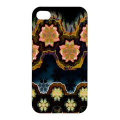 Ornate Floral Textile Apple iPhone 4/4S Hardshell Case