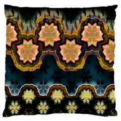 Ornate Floral Textile Large Cushion Case (Two Sides)